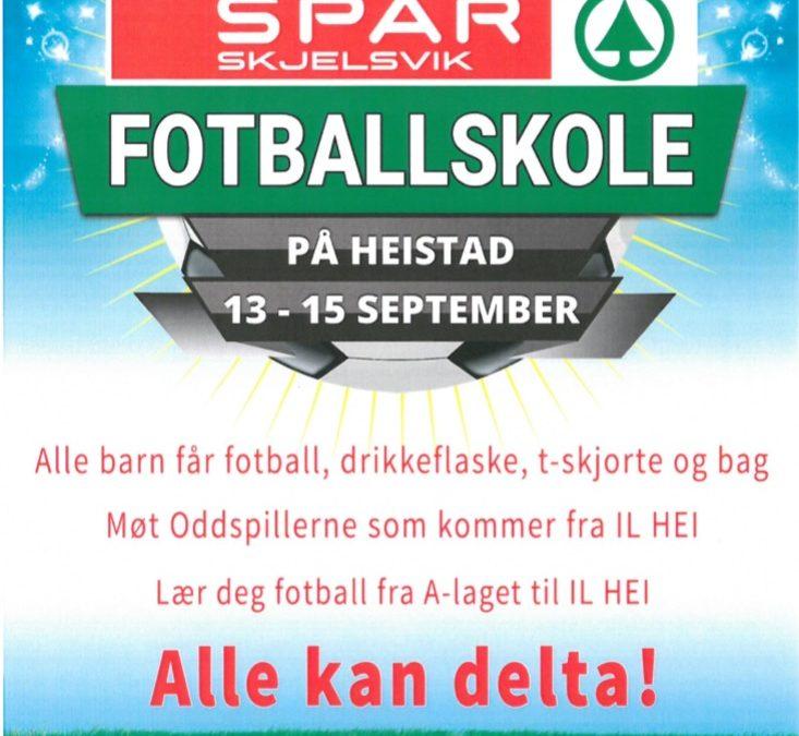 Spar Skjelsvik/IL HEI – Fotballskole
