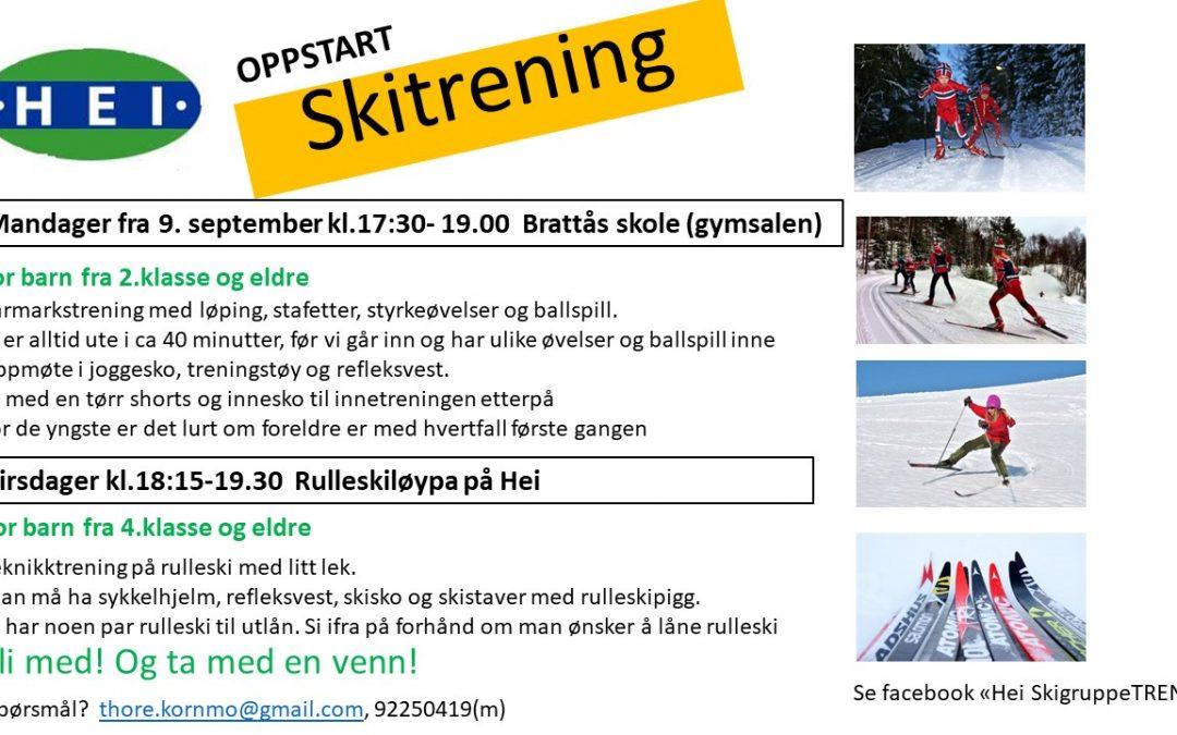 Oppstart Skitrening